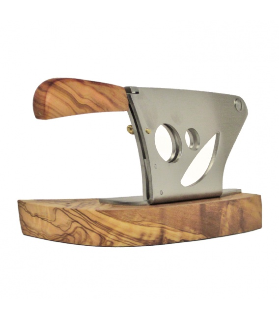 Saladini Modern Tabletop Cutter Olive Wood